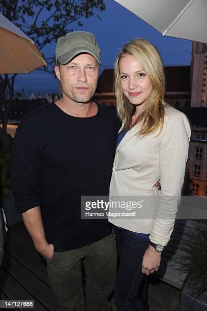 Til Schweiger and Svenja Holtmann attend 'The Newsroom' Sky go premiere at the Hotel Bayerischer Hof on June 25 2012 in Munich Germany