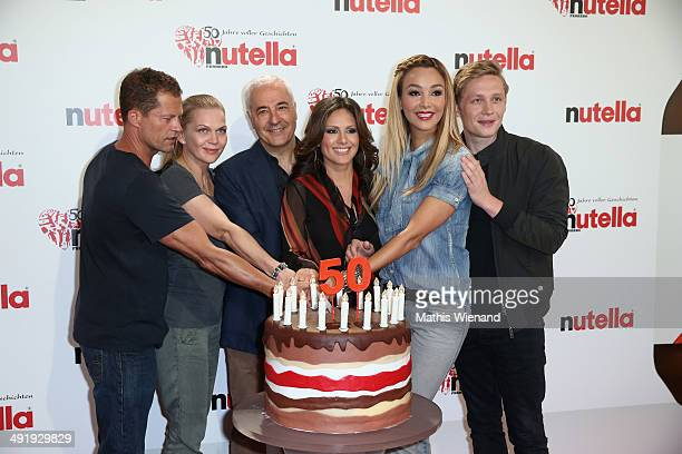 Til Schweiger Anna Loos Carlo Vassallo Nazan Eckes Verona Poth Matthias Schweighoefer attend the 50 Year Anniversary Nutella Celebration at...