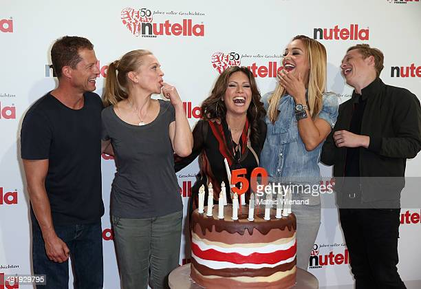 Til Schweiger Anna Loos Nazan Eckes Verona Poth Matthias Schweighoefer attend the 50 Year Anniversary Nutella Celebration at Westfalenpark on May 18...