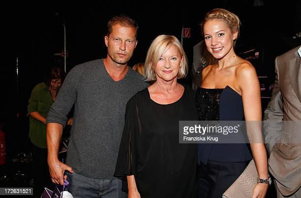 Til Schweiger Elisabeth Schwaiger and Svenja Holtmann attend the Laurel Show during the MercedesBenz Fashion Week Spring/Summer 2014 at Brandenburg...