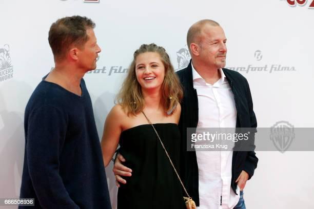 Til Schweiger Emma Schweiger and Heino Ferch attend the 'Conni Co 2 Das Geheimnis des TRex' premiere on April 9 2017 in Berlin Germany