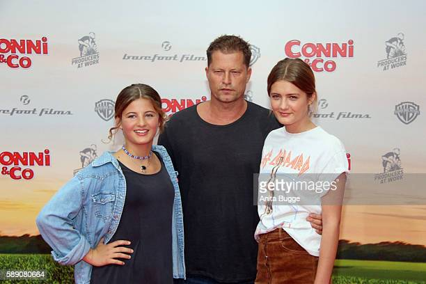 Til Schweiger Emma Schwieger and Lille Schweiger attend the 'Conni Co' Berlin premiere on August 13 2016 in Berlin Germany
