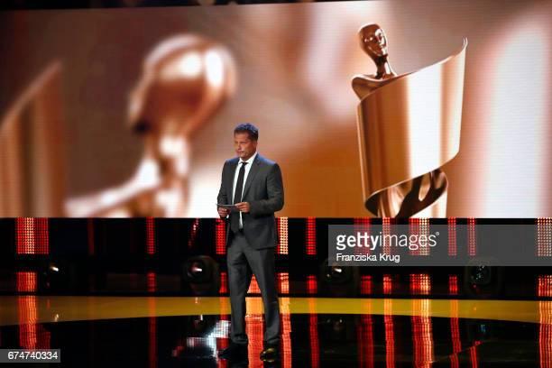 Til Schweiger on stage during the Lola German Film Award show at Messe Berlin on April 28 2017 in Berlin Germany