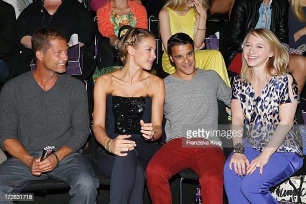 Til Schweiger Svenja Holtmann Kostja Ullmann and Anna Maria Muehe attend the Laurel Show during the MercedesBenz Fashion Week Spring/Summer 2014 at...