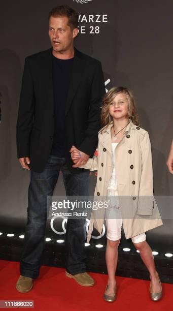 Til Schweiger with daughter Emma Schweiger arrive for the 'new faces award' 2011 at the bcc on April 7 2011 in Berlin Germany
