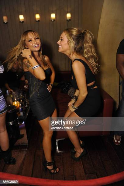 Tila Tequila and guest attend the Official OnlineBootyCall Million Dollar Sweepstakes Party at Opera Crimson on June 20 2009 in Los Angeles California