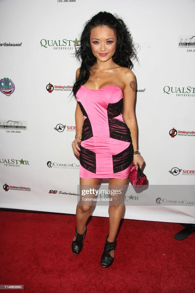 Tila Tequila arrives at the DrinkingAndDriving.org's 1st annual celebrity charity tabloid roast held at The Ha Ha Comedy Club on May 31, 2011 in North Hollywood, California.