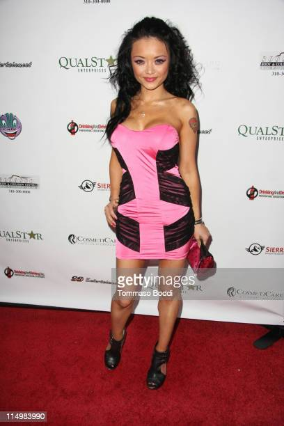 Tila Tequila arrives at the DrinkingAndDrivingorg's 1st annual celebrity charity tabloid roast held at The Ha Ha Comedy Club on May 31 2011 in North...