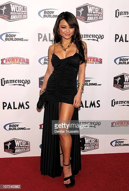 Tila Tequila arrives at the Fighters Only World Mixed Martial Arts Awards at the Pearl Theatre at the Palms Hotel and Casino on December 1 2010 in...