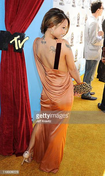 Tila Tequila arrives to the 2008 MTV Movie Awards at the Gibson Amphitheatre on June 1, 2008 in Universal City, California.