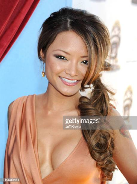 Tila Tequila arrives to the 2008 MTV Movie Awards at the Gibson Amphitheatre on June 1 2008 in Universal City California
