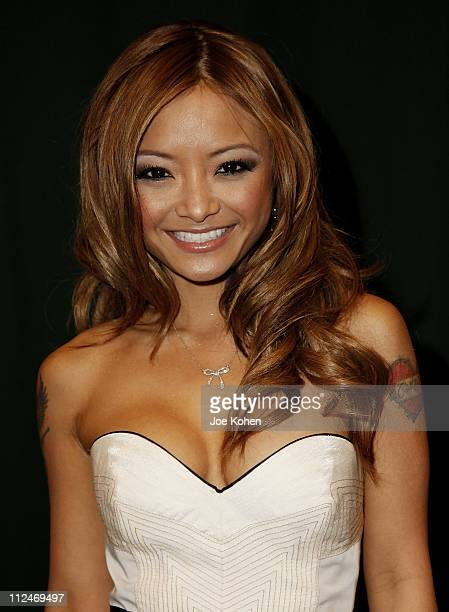 Tila Tequila attends a book signing for 'Hooking Up with Tila Tequila A Guide to Love Fame Happiness Success and Being the Life of the Party' at...
