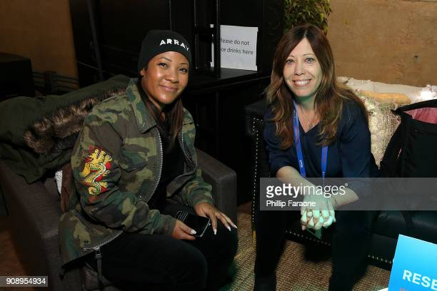 Tilane Jones and Kirsten Schaffer attend The Sundance Institute Refinery29 and DOVE Chocolate Present 2018 Women at Sundance Brunch at The Shop on...