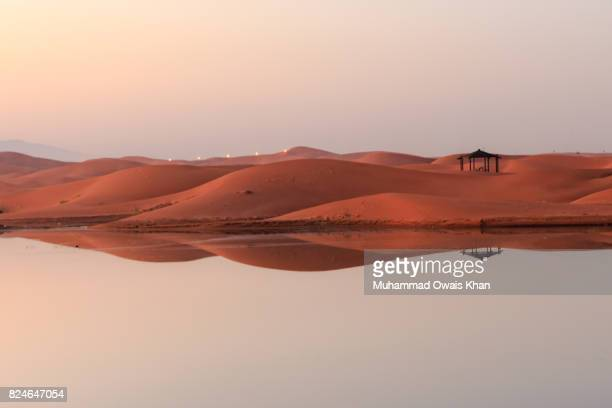 tilapia lake, al-ain, abu dhabi - アブダビ アルアイン市 ストックフォトと画像
