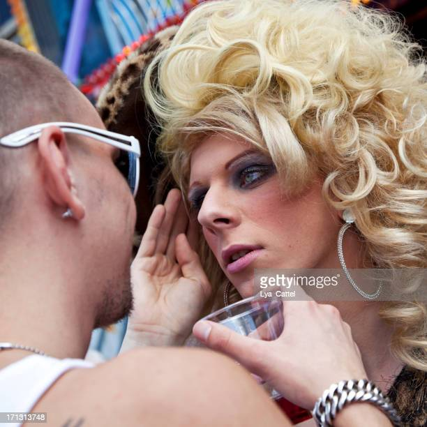 tilburg fun fair # 4 xl - beautiful transvestite stock photos and pictures