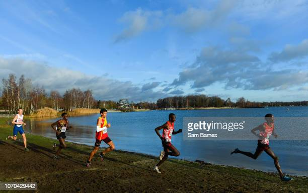Tilburg Netherlands 9 December 2018 A general view during the Senior Men's Event during the European Cross Country Championships at Beekse Bergen...