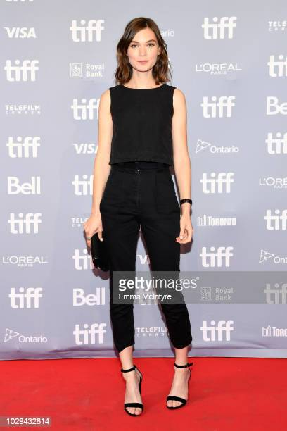 Tilda CobhamHervey attends Hotel Mumbai Press Conference during 2018 Toronto International Film Festival at TIFF Bell Lightbox on September 8 2018 in...