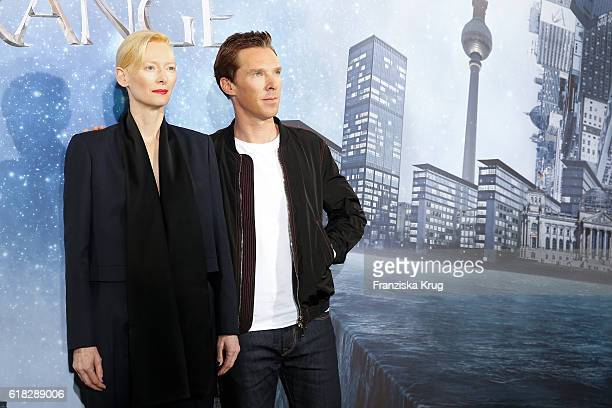 Tilda Swinton and Benedict Cumberbatch attend the 'Doctor Strange' photocall at Soho House on October 26 2016 in Berlin Germany