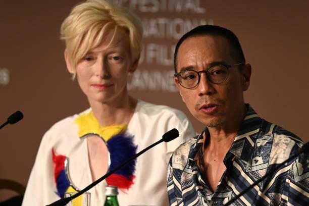 """FRA: """"Memoria"""" Press Conference - The 74th Annual Cannes Film Festival"""