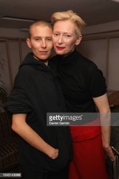 Tilda Swinton and Dree Hemingway attend the AnOther Magazine x Prada private screening and party for Luca Guadagnino's Suspiria and AnOther A/W18...