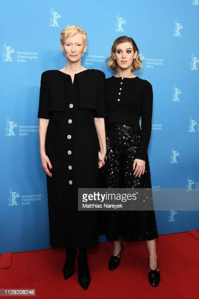Tilda Swinton and her daughter Honor SwintonByrne attend the 'The Souvenir' premiere during the 69th Berlinale International Film Festival Berlin at...