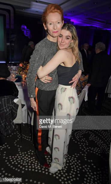 Tilda Swinton and Honor Swinton Byrne attend the BFI Chairman's dinner awarding Tilda Swinton with a BFI Fellowship at Rosewood London on March 2...