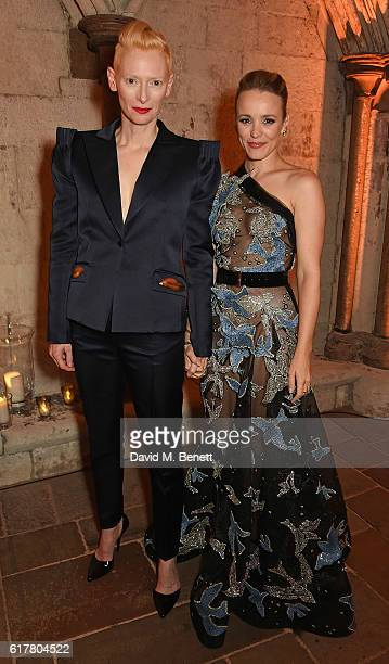 Tilda Swinton and Rachel McAdams attend Marvel Studios and British GQ hosted reception in The Cloisters at Westminster Abbey, to celebrate the...