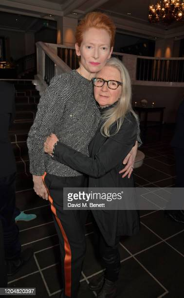 Tilda Swinton and Sally Potter attend the BFI Chairman's dinner awarding Tilda Swinton with a BFI Fellowship at Rosewood London on March 2 2020 in...