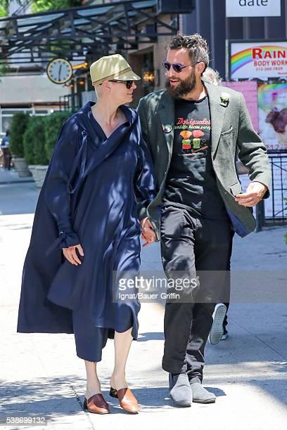 Tilda Swinton and Sandro Kopp are seen on June 07 2016 in New York City