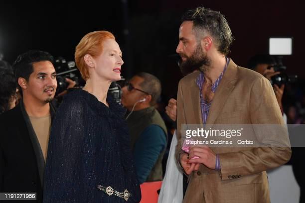 Tilda Swinton and Sandro Kopp attend the Tribute to Bertrand Tavernier during the 18th Marrakech International Film Festival Day Three on December 01...