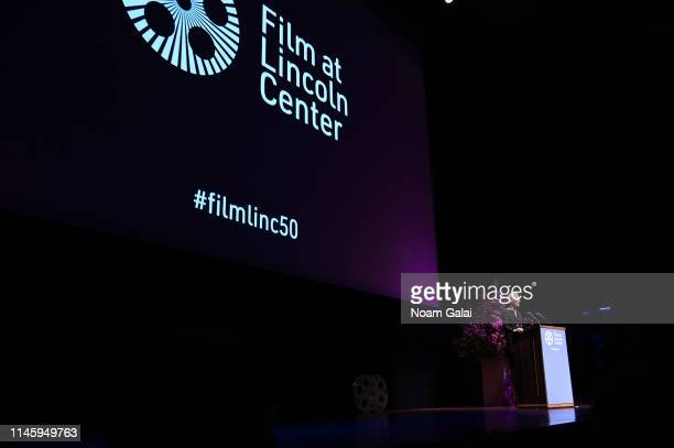 Tilda Swinton appears onstage during the Film Society Of Lincoln Center's 50th Anniversary Gala at Lincoln Center on April 29 2019 in New York City