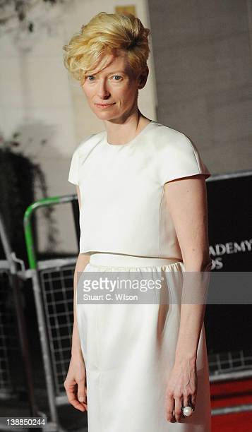 Tilda Swinton arrives at the after party of Orange British Academy Film Awards 2012 at Grosvenor House on February 12 2012 in London England