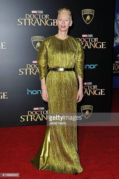 Tilda Swinton arrives at the Premiere of Disney and Marvel Studios' 'Doctor Strange' on October 20, 2016 in Hollywood, California.