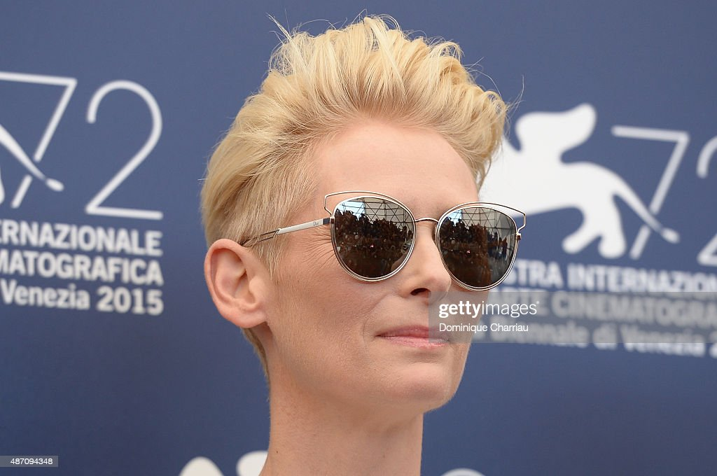 Tilda Swinton attends a photocall for 'A Bigger Splash' during the 72nd Venice Film Festival at on September 6, 2015 in Venice, Italy.