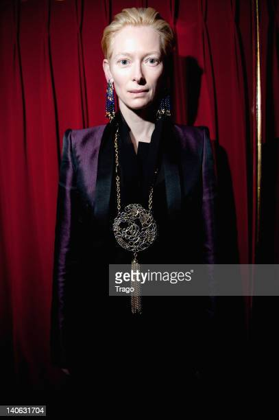 Tilda Swinton attends 'Catherine Baba for Gripoix' Presentation Cocktail At Laperouse during Paris Fashion Week at Restaurant Laperouse on March 3...