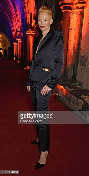 Tilda Swinton attends Marvel Studios and British GQ hosted reception in The Cloisters at Westminster Abbey, to celebrate the release of Doctor...