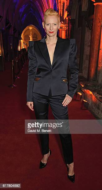 Tilda Swinton attends Marvel Studios and British GQ hosted reception in The Cloisters at Westminster Abbey to celebrate the release of Doctor Strange...