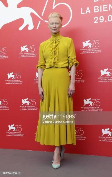 Tilda Swinton attends 'Suspiria' photocall during the 75th Venice Film Festival at Sala Casino on September 1 2018 in Venice Italy