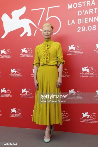 Tilda Swinton attends 'Suspiria' photocall during the 75th Venice Film Festival at Sala Casino on September 1, 2018 in Venice, Italy.