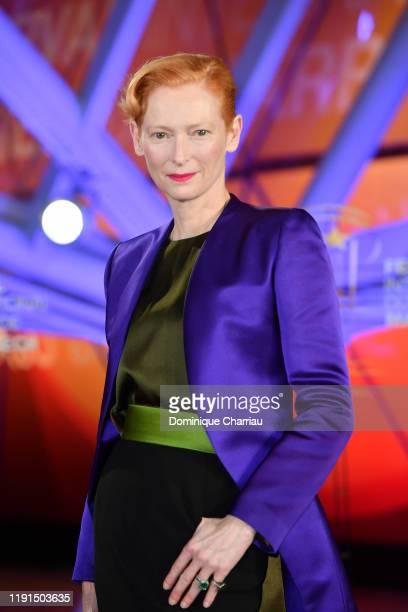 Tilda Swinton attends the 18th Marrakech International Film Festival -Day Four- on Decemeber 02, 2019 in Marrakech, Morocco.