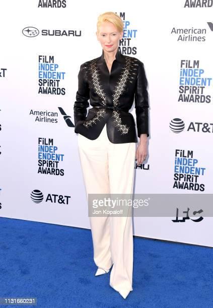 Tilda Swinton attends the 2019 Film Independent Spirit Awards on February 23 2019 in Santa Monica California