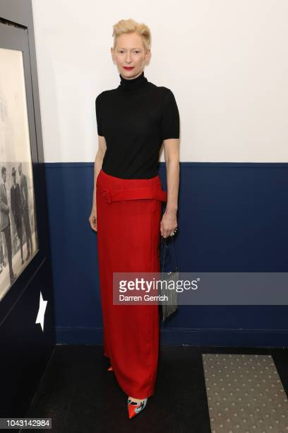 Tilda Swinton attends the AnOther Magazine x Prada private screening and party for Luca Guadagnino's Suspiria and AnOther A/W18 during Paris Fashion...