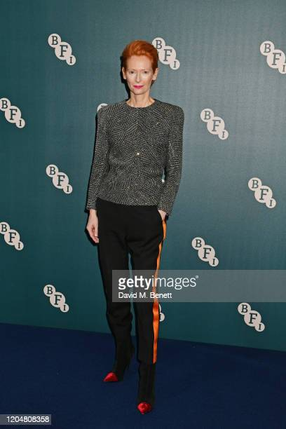 Tilda Swinton attends the BFI Chairman's dinner awarding Tilda Swinton with a BFI Fellowship at Rosewood London on March 2, 2020 in London, England.