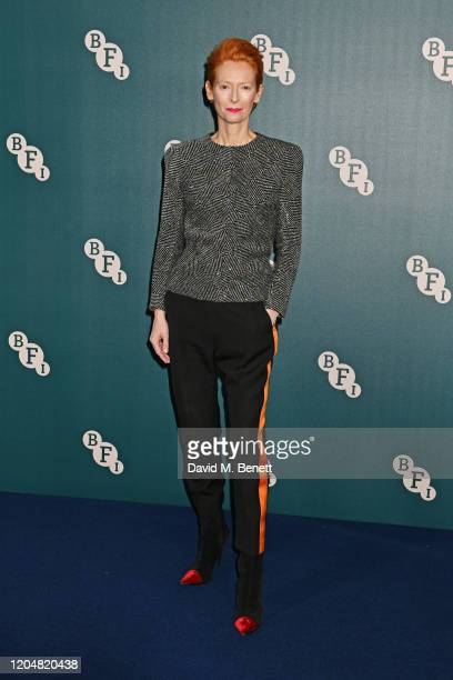 Tilda Swinton attends the BFI Chairman's dinner awarding Tilda Swinton with a BFI Fellowship at Rosewood London on March 2 2020 in London England