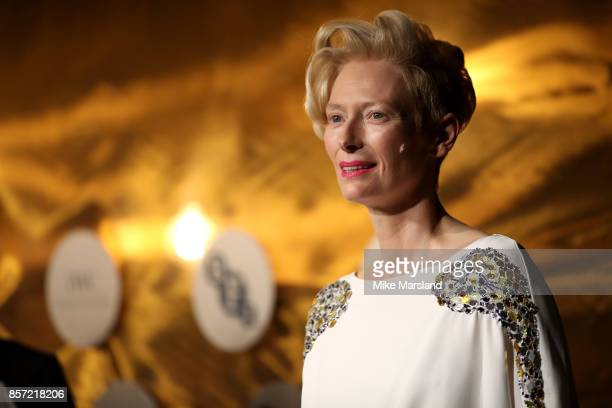Tilda Swinton attends the BFI Luminous Fundraising Gala at The Guildhall on October 3 2017 in London England