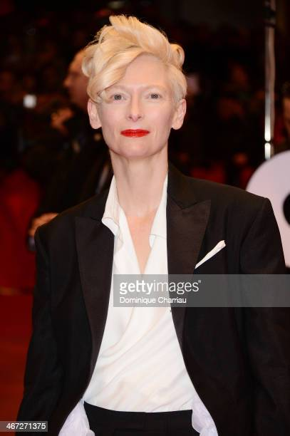 Tilda Swinton attends 'The Grand Budapest Hotel' Premiere during the 64th Berlinale International Film Festival at Berlinale Palast on February 6...