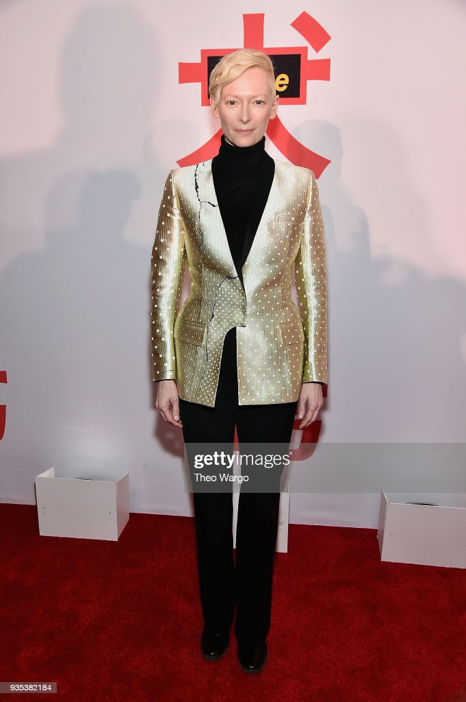 Tilda Swinton attends the 'Isle Of Dogs' New York Screening at The Metropolitan Museum of Art on March 20, 2018 in New York City.