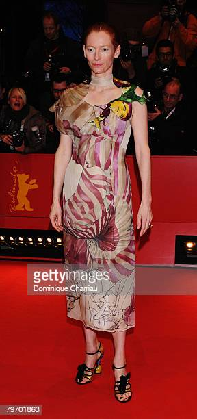 Tilda Swinton attends the 'Julia' Premiere as part of the 58th Berlinale Film Festival at the Berlinale Palast on February 9 2008 in Berlin Germany