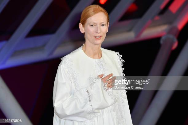 Tilda Swinton attends the Mad Max screening during the 18th Marrakech International Film Festival Day Seven on December 05 2019 in Marrakech Morocco
