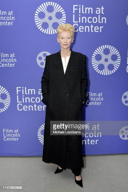 """Tilda Swinton attends the New York screening of """"The Souvenir"""" at Walter Reade Theater on May 07, 2019 in New York City."""